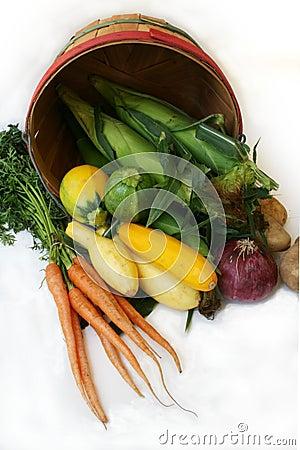 Basket of fresh farm produce