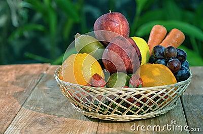 A basket of fresh fruit 02