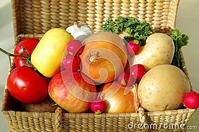 Basket of fruits & vegetables