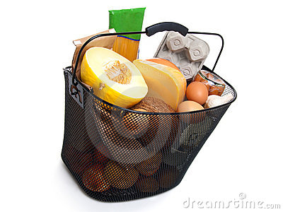 Basket full of fresh food