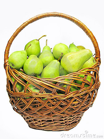 Basket full of pears