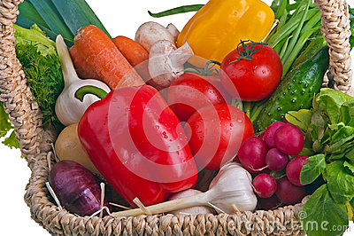 Basket full of vegetable