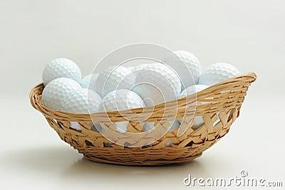 A basket of golf ball