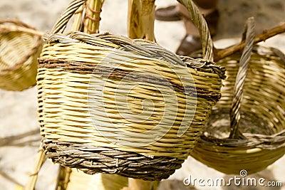 Basket handcraft mediterranean Ibiza Balearic