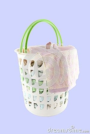 Basket holder up of cloth hang