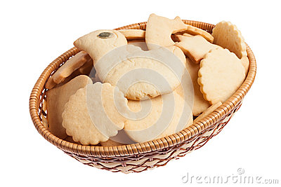 Basket of homemade cookies