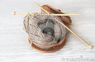 Basket for knitting