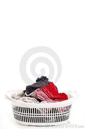Basket Of Laundry Stock Image - Image: 14389291