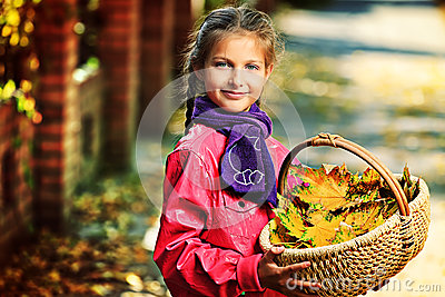 Basket of leaves