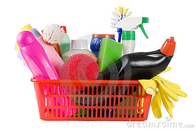 Basket with means for cleaning