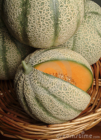 Basket of melons