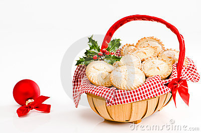 Basket Of Mince Pies