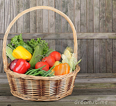 Basket of Nutritious Vegetables