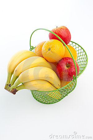 Free Basket Of Fruits Royalty Free Stock Photography - 16419737