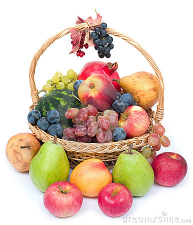 Free Basket Of Fruits Royalty Free Stock Photo - 3240335