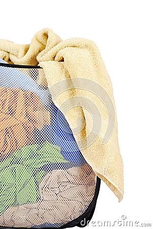 Free Basket Of Laundry Royalty Free Stock Photography - 21041417