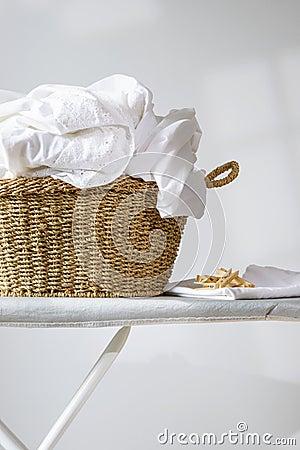 Free Basket Of Laundry Royalty Free Stock Photo - 42917115