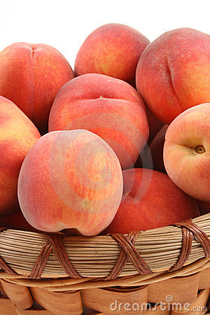Free Basket Of Peaches Royalty Free Stock Image - 3092846