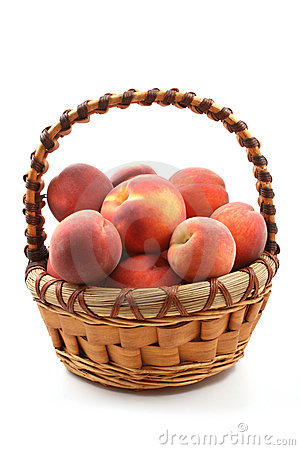 Free Basket Of Peaches Royalty Free Stock Images - 3092879