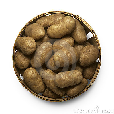 Free Basket Of Potatoes Stock Images - 8181374