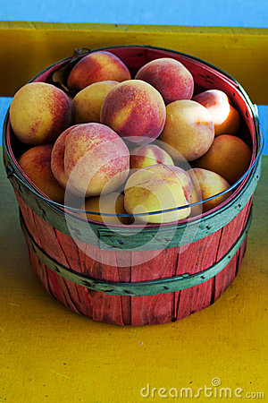 Basket Of Peaches Royalty Free Stock Photography - Image: 28003427