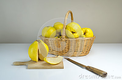 Basket of quinces