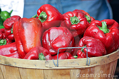Basket of Red Peppers