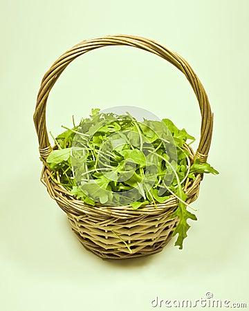 Basket of rocket