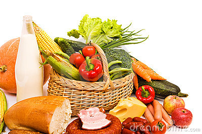 Basket with some food