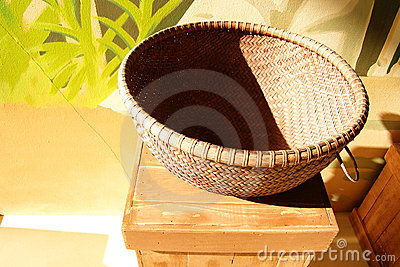 Basket in the sunlight