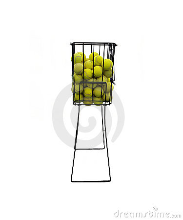 Basket of tenis balls