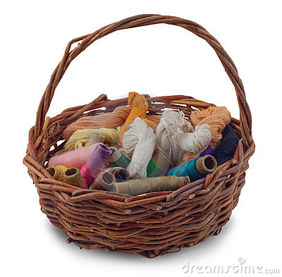A basket of thread