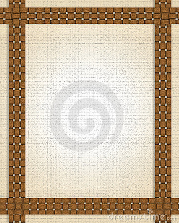 Basket weave frame or border