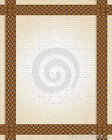 Basket weave frame or border