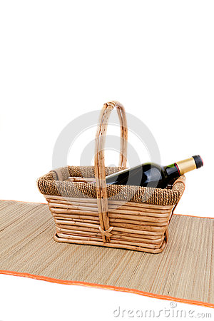Basket and wine