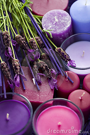 Free Basket With Candles Stock Photography - 15264902