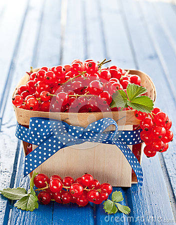 Free Basket With Fresh Red Currants Stock Photo - 42571200