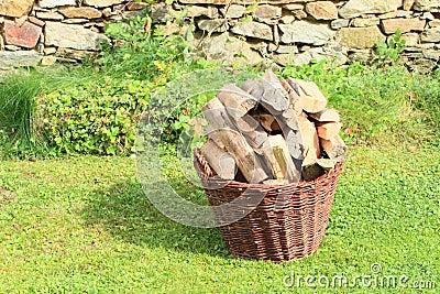 Basket of wood