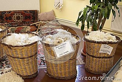 Basket of wool