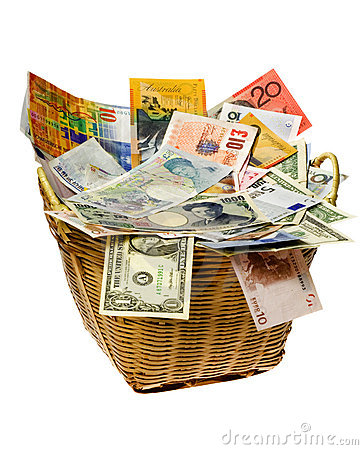 Basket of world currencies