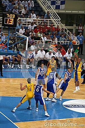 Basketball Editorial Stock Photo
