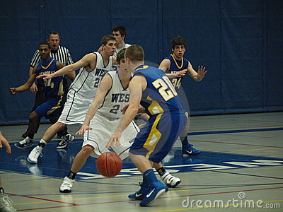Basketball Action Editorial Stock Image