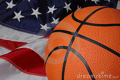 basketball with american flag stock images image 1352444