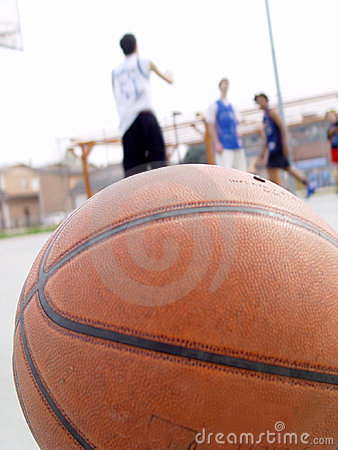 Free Basketball And 3 Players Stock Photography - 2671782