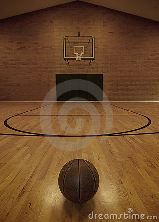 Free Basketball And Basketball Court Royalty Free Stock Photo - 12714525