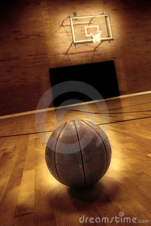 Free Basketball And Basketball Court Royalty Free Stock Photography - 12843897