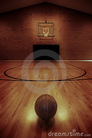 Free Basketball And Basketball Court Royalty Free Stock Image - 13040216