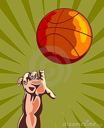 Free Basketball And Hand Rebounding Stock Photos - 2422293