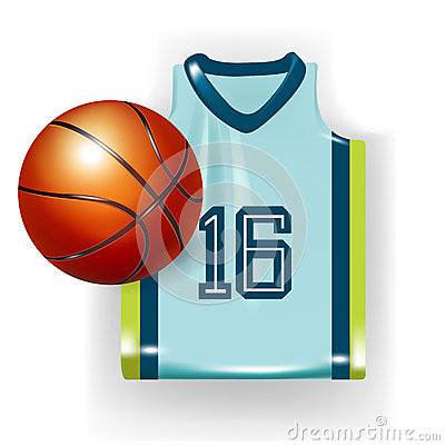 Basketball apparel and ball