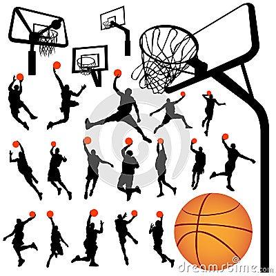 Basketball and backboard vector 2